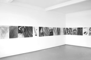 Mihaela-Vujnovic,-black-and-white,-drawings,-interior