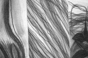 Mihaela-Vujnovic,-black-and-white,-drawings,-interior,-details,-IV