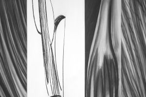 Mihaela-Vujnovic,-black-and-white,-drawings,-interior,-details,-V